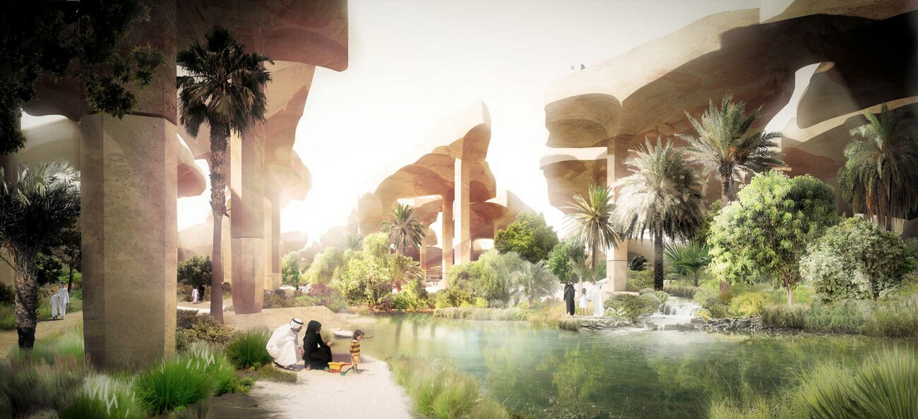 Al Fayah Park in the Desert