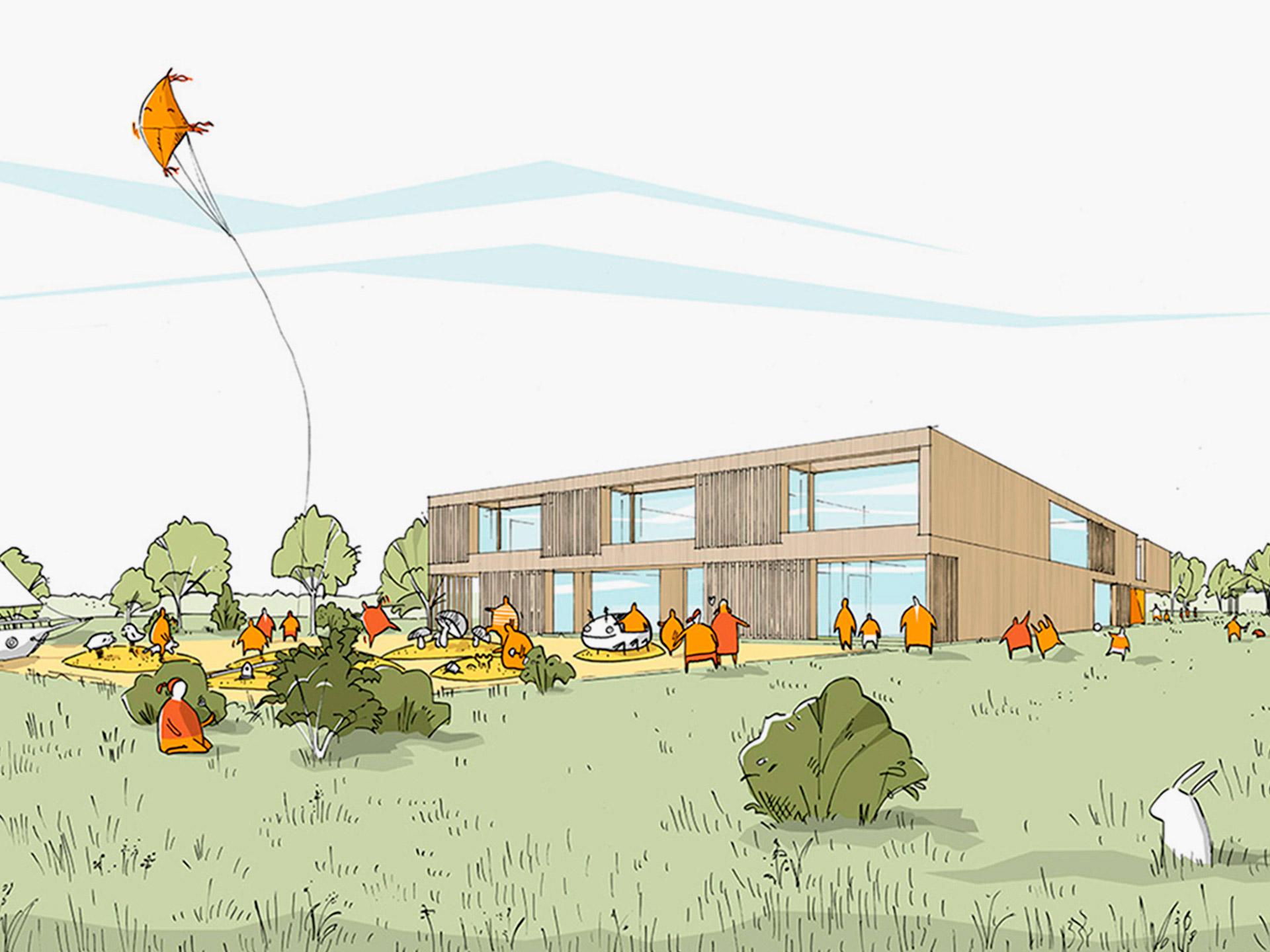 Plus-Energy Daycare Center