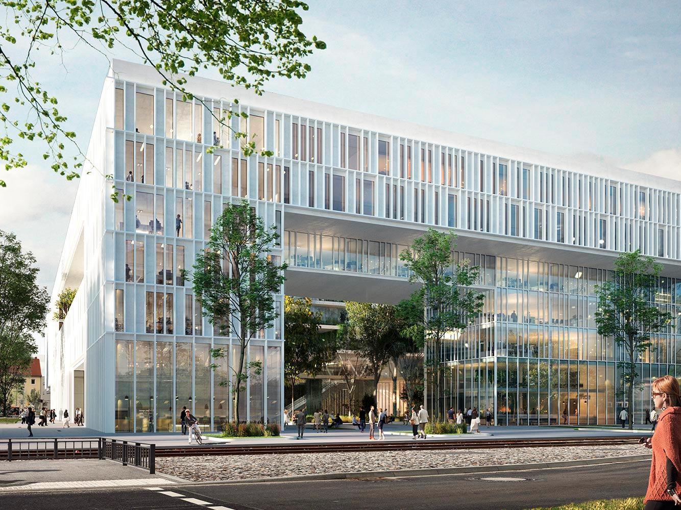 ENBW Neues Bürogebäude Durlacher Allee