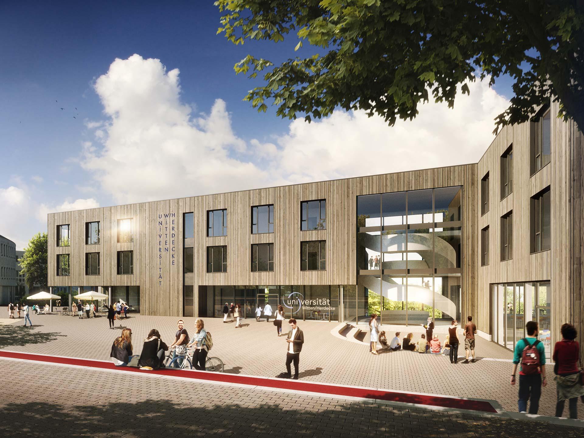 Université - Extension construite en bois